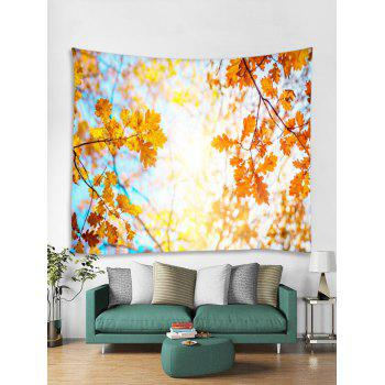 Tree Leaf Pattern Wall Tapestry Decoration - multicolor W91 INCH * L71 INCH