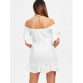 Mini Off The Shoulder Mermaid Dress - WHITE S