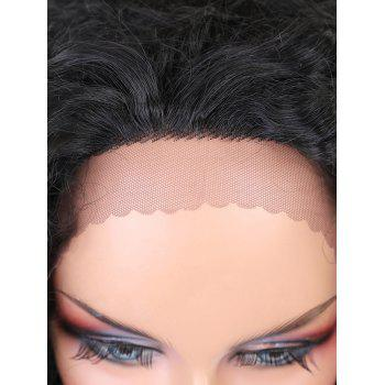 Free Part Water Wave Long Synthetic Lace Front Wig - BLACK