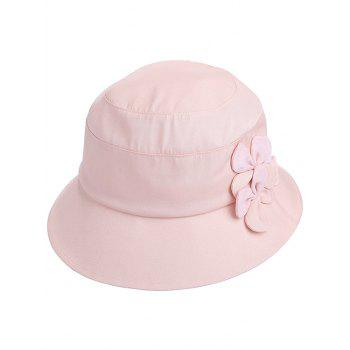 Foldable Floral Wide Brim Anti UV Sunscreen Hat - PINK BUBBLEGUM
