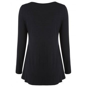 Cut Out Sequins Tee - BLACK M