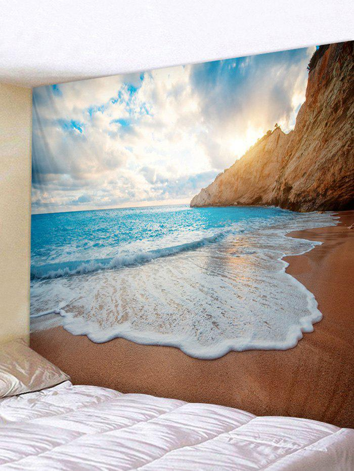 Wall Hanging Art Beach Fine Day Print Tapestry - multicolor W91 INCH * L71 INCH
