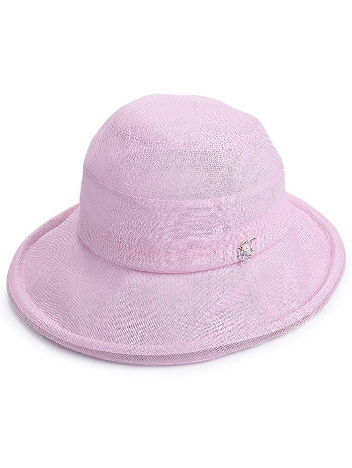 Lightweight Wide Brim Bucket Sun Hat - BLOSSOM PINK
