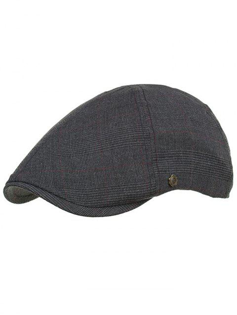 Retro Plaid Pattern Label W Ivy Hat - 003