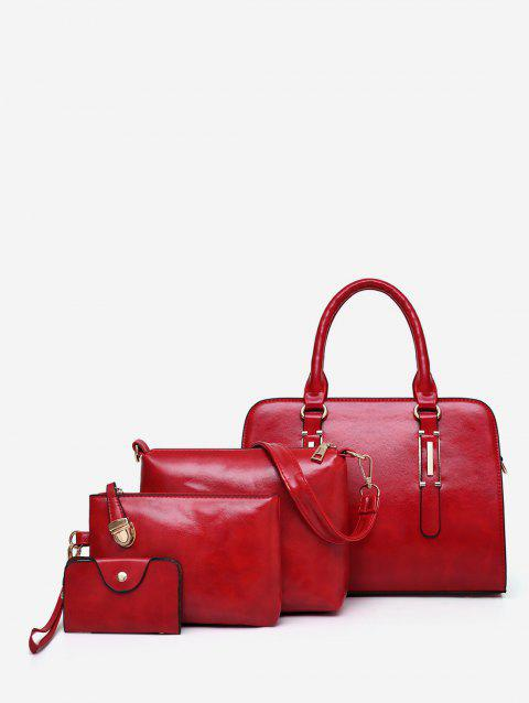 Leisure Travel All Purpose 4 Pieces Tote Bag Set - RED WINE