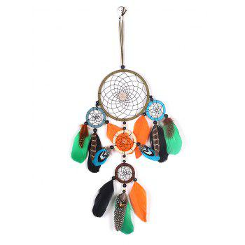 Wall Hanging Feathers Handmade Dream Catcher - multicolor 55*13CM