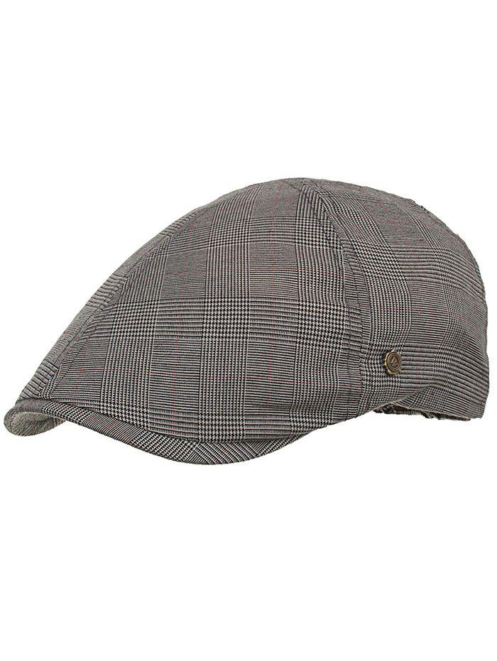 Retro Plaid Pattern Label W Ivy Hat -