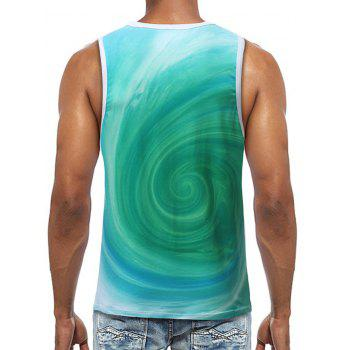 Volution Print Running Tank Top - GREEN 2XL