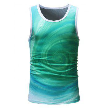 Volution Print Running Tank Top - GREEN XL