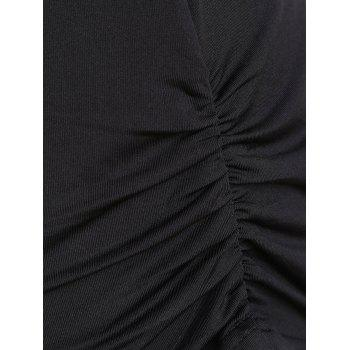 Cut Out Empire Waist Slim Fit T-shirt - BLACK L