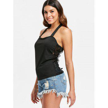 Open Back Wing Print Tank Top - BLACK L