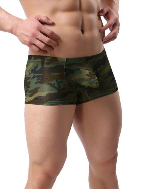 Bulge Enhancing Low-rise Camouflage Printed Trunk - ACU CAMOUFLAGE 2XL