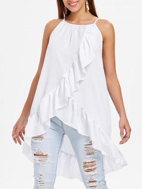 Flounce Insert Cami Top - WHITE M