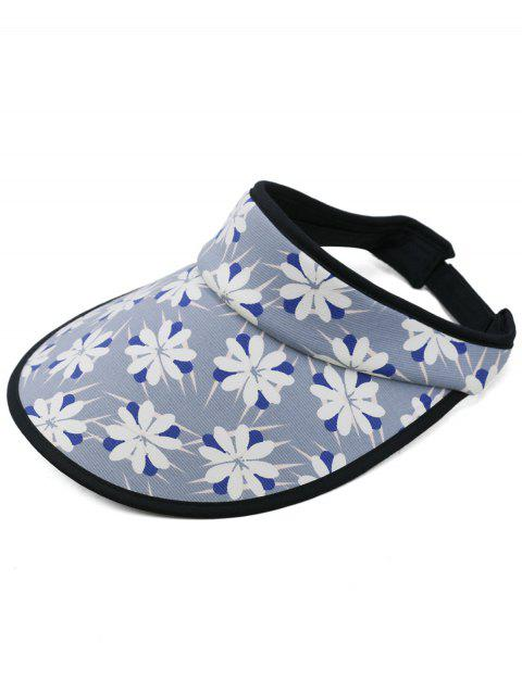 Flourishing Flowers Open Top Sun Hat - DEEP BLUE