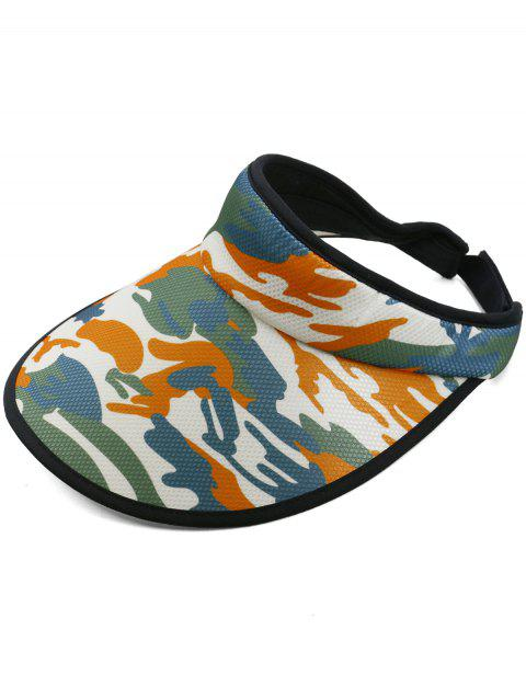 Stylish Camouflage Printed Open Top Sun Hat - ORANGE