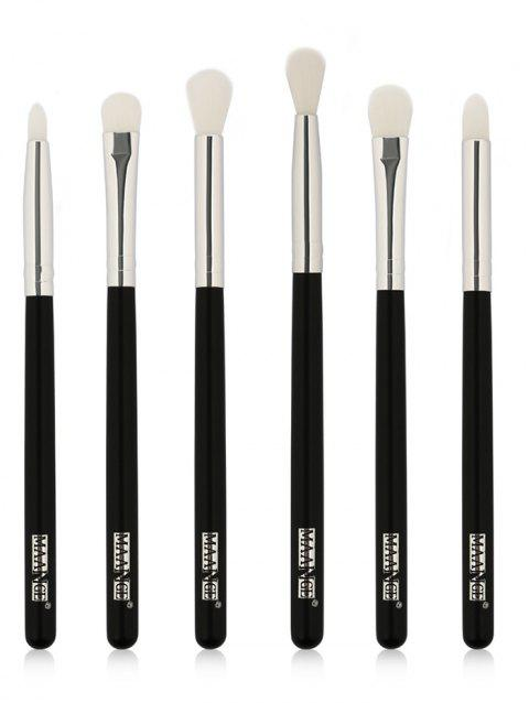 6Pcs Synthetic Fiber Hair Eye Makeup Brush Kit - SILVER