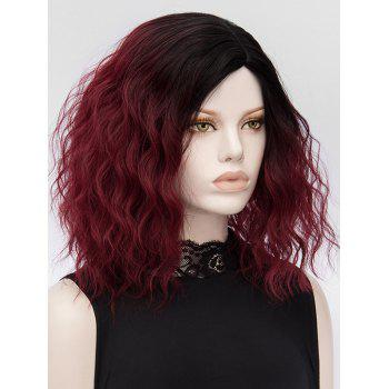 Medium Gradient Natural Wavy Party Synthetic Wig - multicolor
