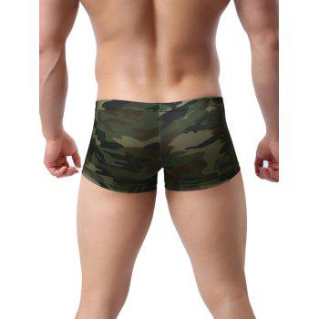 Bulge Enhancing Low-rise Camouflage Printed Trunk - ACU CAMOUFLAGE L