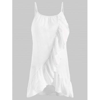 Flounce Insert Cami Top - WHITE S