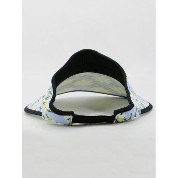 Flourishing Flowers Open Top Sun Hat - LIGHT BLUE