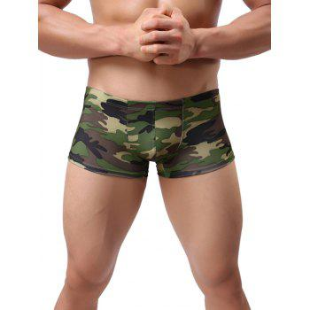 Elastic Camo Pattern Trunk Underpants - ACU CAMOUFLAGE 2XL