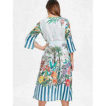 Tropical Midi Dress - BABY BLUE S