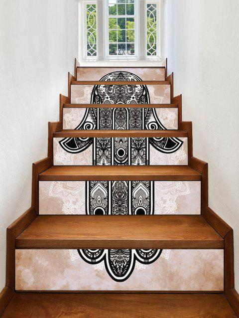 Hand Printed Decorative Stair Decals - multicolor 6PCS:39*7 INCH( NO FRAME )