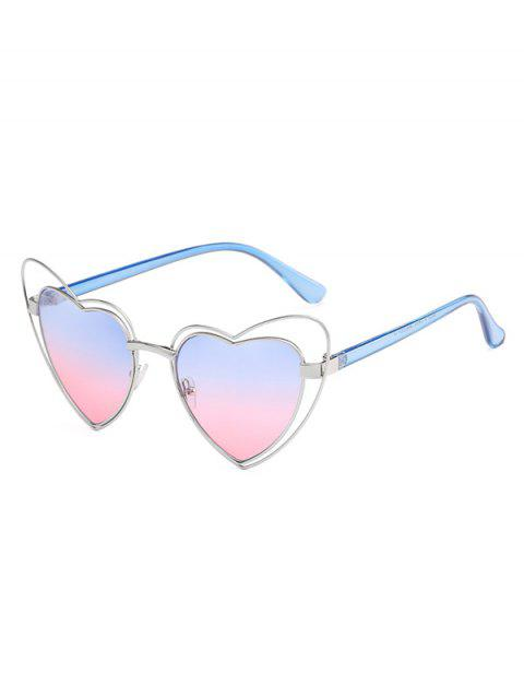 Stylish Irregular Heart Frame Lens Novelty Sunglasses - POWDER BLUE