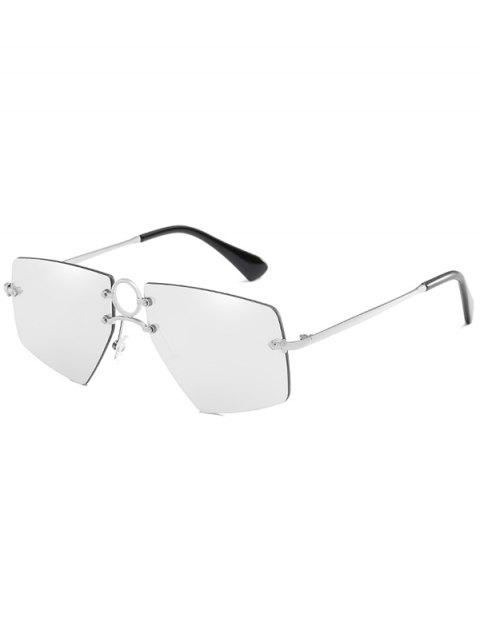 Unique Ring Bridge Rimless Sunglasses - PLATINUM