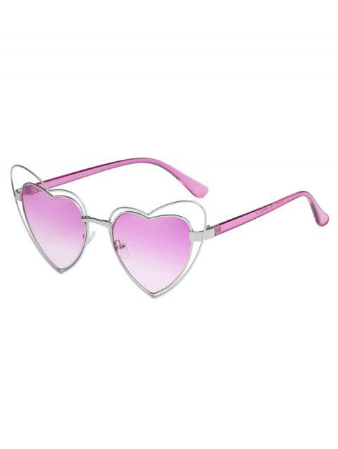 Stylish Irregular Heart Frame Lens Novelty Sunglasses - HELIOTROPE PURPLE