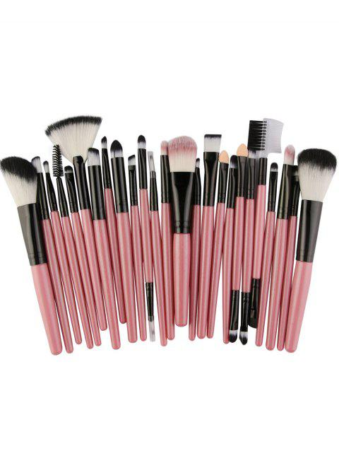 Set of 25Pcs Ultra Soft Fiber Hair Cosmetic Brush Set - LIGHT PINK