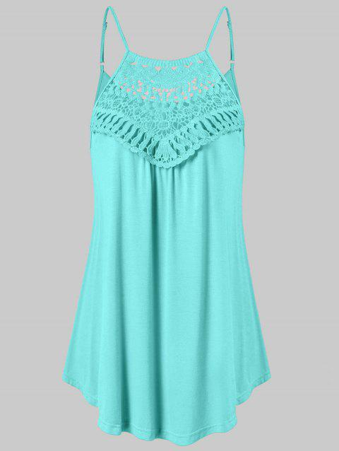 Lace Crochet Cami Tank Top - MINT GREEN L