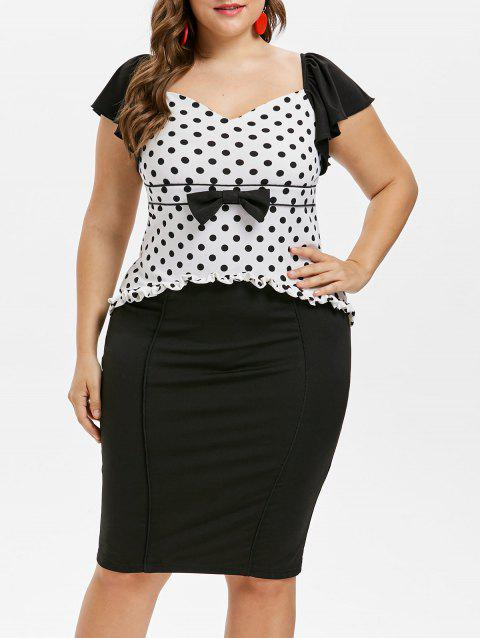 Plus Size Cap Sleeve Sweetheart Neck Dress - BLACK 2X