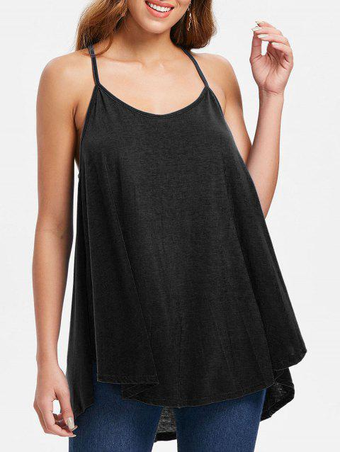 Cami Straps Swing Tank Top - BLACK M