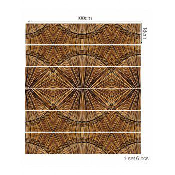Wooden Printed Decorative Stair Decals - multicolor 6PCS:39*7 INCH( NO FRAME )