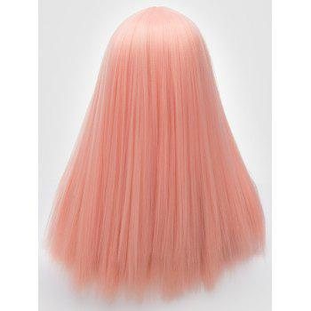 Long Center Parting Straight Lolita Synthetic Wig - ORANGE PINK