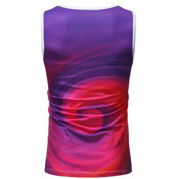 Volution Printed Sleeveless T Shirt - PURPLE M