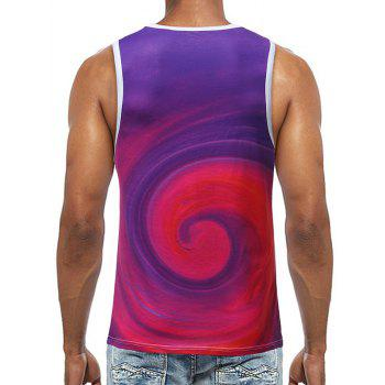 Volution Printed Sleeveless T Shirt - PURPLE L