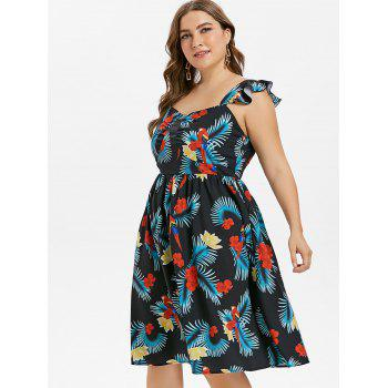 Plus Size Sweetheart Flower Dress - GREEN 4X