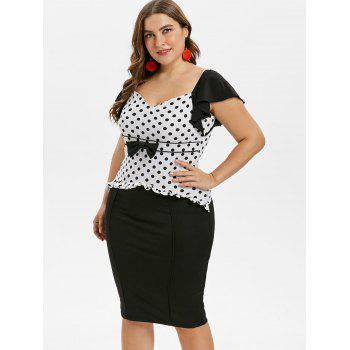 Plus Size Cap Sleeve Sweetheart Neck Dress - BLACK 3X