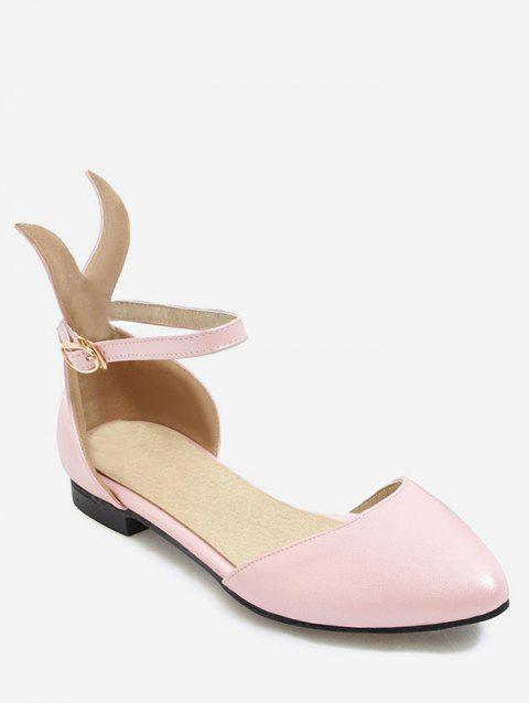 Plus Size Cartoon Ear Ankle Strap Chic Sandals - PINK 40