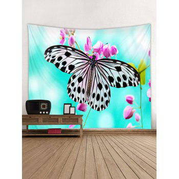 Butterfly Print Tapestry Wall Art Decor - multicolor W59 INCH * L59 INCH