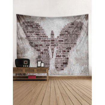 Proverbs Butterfly Print Tapestry Wall Art - multicolor W59 INCH * L59 INCH