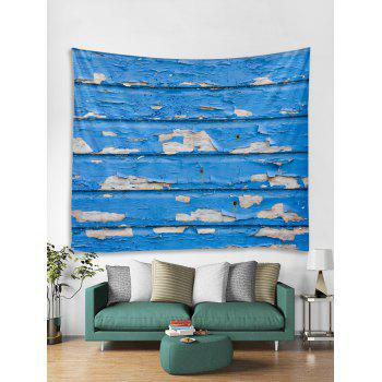 Old Wooden Wall Print Tapestry Wall Art - BLUE W79 INCH * L59 INCH