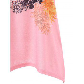 Flowered Tank Top - LIGHT PINK XL