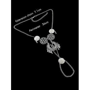 Bohemian Hollow Out Chain Slave Anklet - SILVER