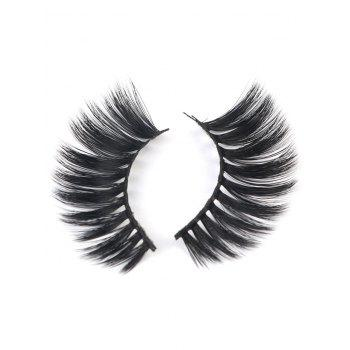 Set of 5Pcs Handmade Natural Curling Chemical Fiber False Eyelashes - BLACK
