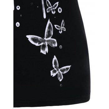 Butterflies Tank Top - BLACK L