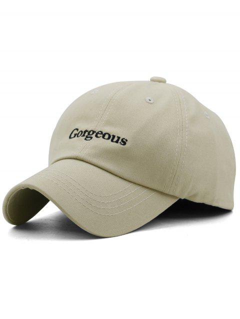 Gorgeous Embroidery Breathable Sunscreen Hat - LIGHT KHAKI
