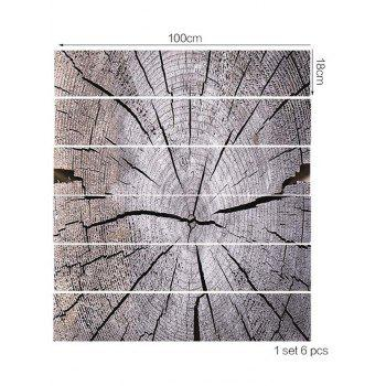 Crack Tree Grain Printed Stair Step Stickers - GRAY CLOUD 6PCS:39*7 INCH( NO FRAME )